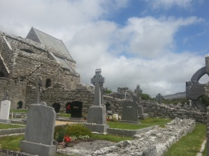 Corcomroe Abbey, where John O'Donohue celebrated Easter morn many times. I visited in June 2013