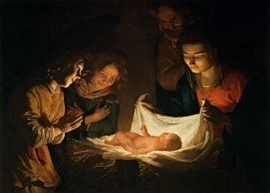 Gerrit van Honthorst  Adoration of the Child c.1620  Galleria degli Uffizi, Florence