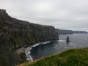 Cliffs of Mohar. Wandered into a paddock, over a turnstile, up to the edge and looked to the horizon.